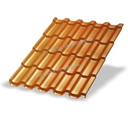 Металлочерепица МП Трамонтана-S (AGNETA-20-Copper\Copper-0.5) - фото 10170
