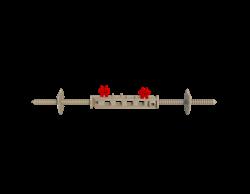 Универсальная стяжка для несъемной опалубки (2 элемента + 2 держателя) - фото 10340