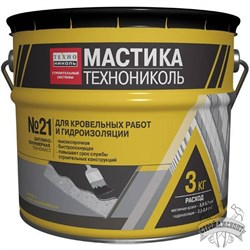 Мастика Технониколь №21 кровельная Техномаст (3 кг) - фото 7150