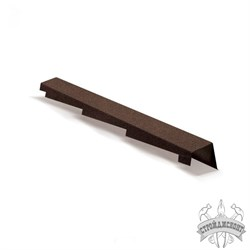 Торцевая планка правая Metrotile коричневый (1250 мм) - фото 7844