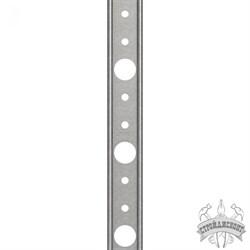 Рейка прижимная Termoclip-кровля РС стальная оцинкованная (3000х20х1,2 мм) - фото 7954