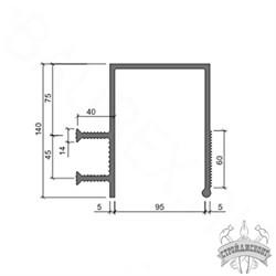 Гидрошпонка ПВХ-П Аквастоп ДЗС-140/100-2/40 - фото 8098