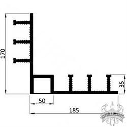 Гидрошпонка ПВХ Icopal ДН-У 320/35/50-Н наружный угол - фото 8161