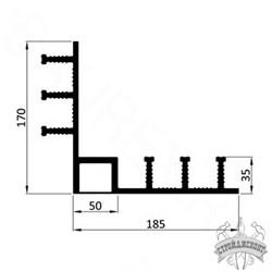 Гидрошпонка ПВХ Icopal ДН-РУ 320/35/50 прижимная внутренний угол - фото 8162