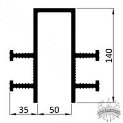 Гидрошпонка ПВХ Icopal ДП-Р 140/35/50 прижимная - фото 8166