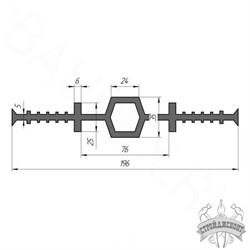 Гидрошпонка EPDM Гидроконтур ЦДР-196К25 - фото 8205