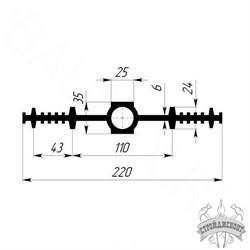 Гидрошпонка EPDM Гидроконтур ЦДР-220К25 - фото 8207