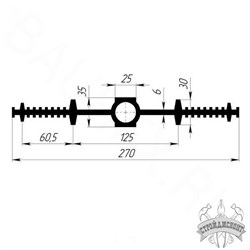 Гидрошпонка EPDM Гидроконтур ЦДР-270К25 - фото 8208