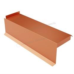 Планка сегментная торцевая левая 400 мм (AGNETA-20-Copper\Copper-0.5) - фото 9280