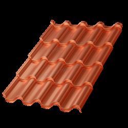 Металлочерепица МП Монтерроса-X (AGNETA-20-Copper\Copper-0.5) - фото 9602