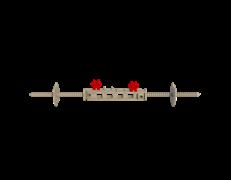 Универсальная стяжка для несъемной опалубки (2 элемента + 2 держателя)