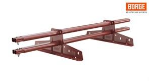 Снегозадержатель трубчатый BORGE для кровли из металлочерепицы, профнастила, материалов на основе битум, стандарт, 3м