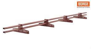 Снегозадержатель трубчатый BORGE для кровли из металлочерепицы, профнастила, материалов на основе битум, 3м, 4 опоры, медь