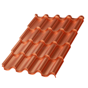 Металлочерепица МП Монтерроса-SL (AGNETA-20-Copper\Copper-0.5)