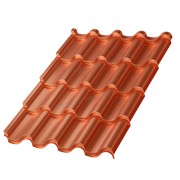 Металлочерепица МП Монтерроса-M (AGNETA-20-Copper\Copper-0.5)