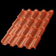 Металлочерепица МП Монтерроса-S (AGNETA-20-Copper\Copper-0.5)